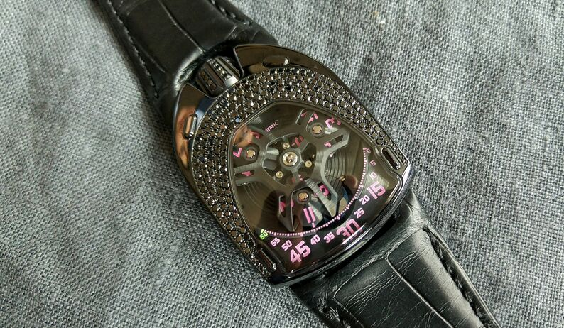 Urwerk UR-106 Black Pink Lotus replica