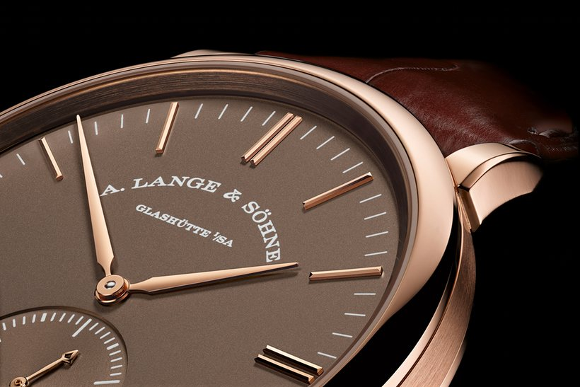 Ultra Thin A. Lange & Söhne Saxonia Terra Brown Dial Automatic Replica Watch