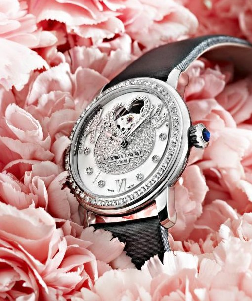 Frederique Constant Amour Pavee Heart Beat ladies watch