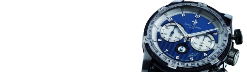 Swiss Made Louis Moinet Nelson Piquet Chronograph Blue Dial Watch Replica
