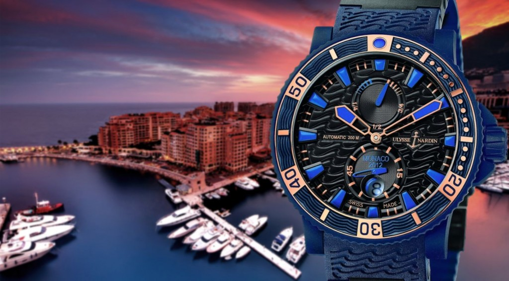 You Will Love This Very Cool Blue Ulysse Nardin Marine Diver Monaco Watch Replica