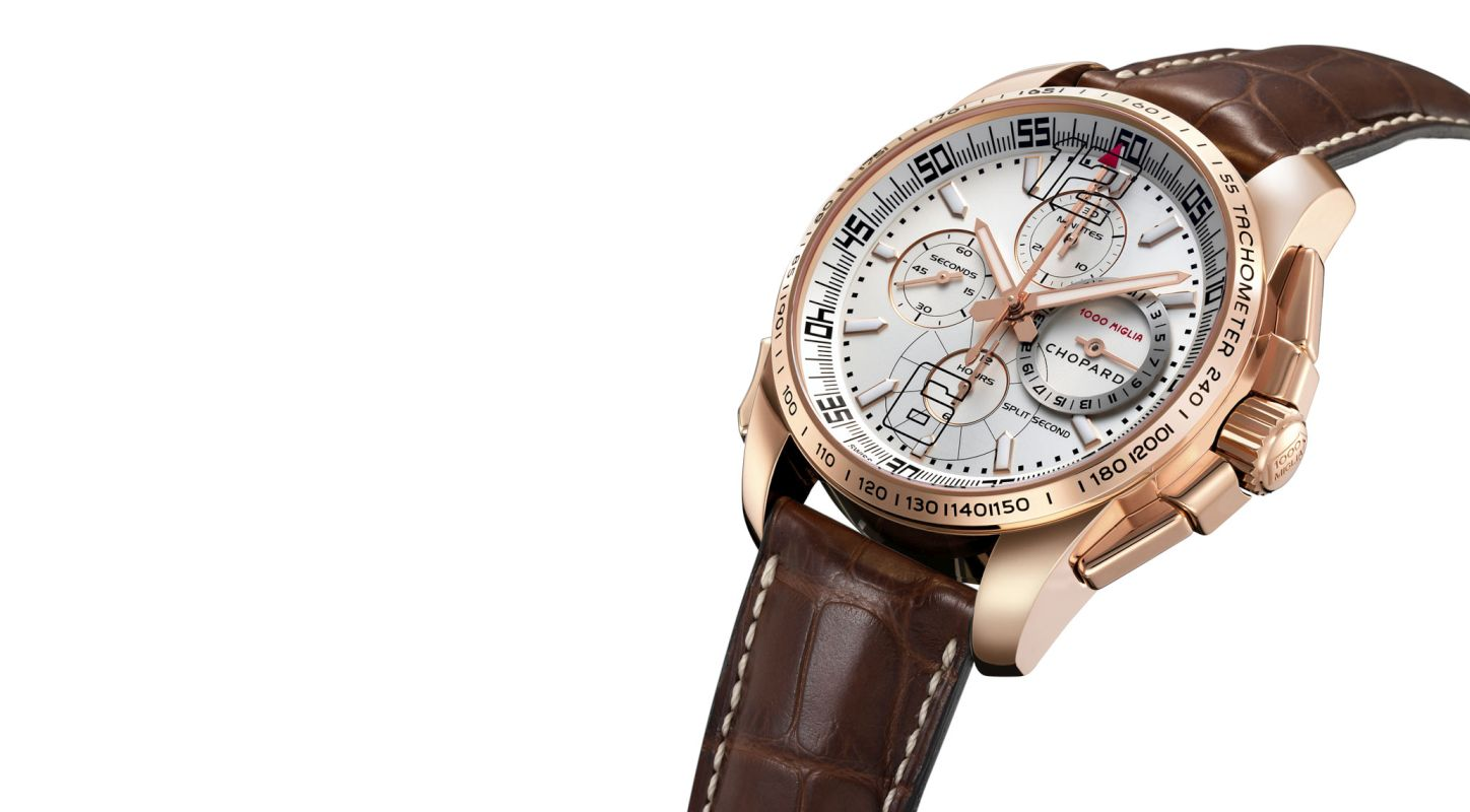 Chopard 1000 Miglia GT XL Chrono Split Seconds Rose Gold Watch Replica